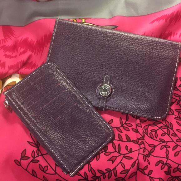 Hermes Handbags - HERMES DROGO 2 pc leather wallet good condition...